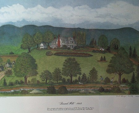 Laurel Hill 1842 by Pat G. Woltz - 9X12 colored print